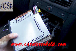 Car Stereo Removal and Installation For Renault Clio, Car
