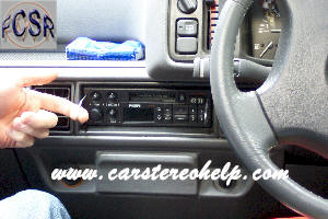 car stereo removal and installation for rover metro, car